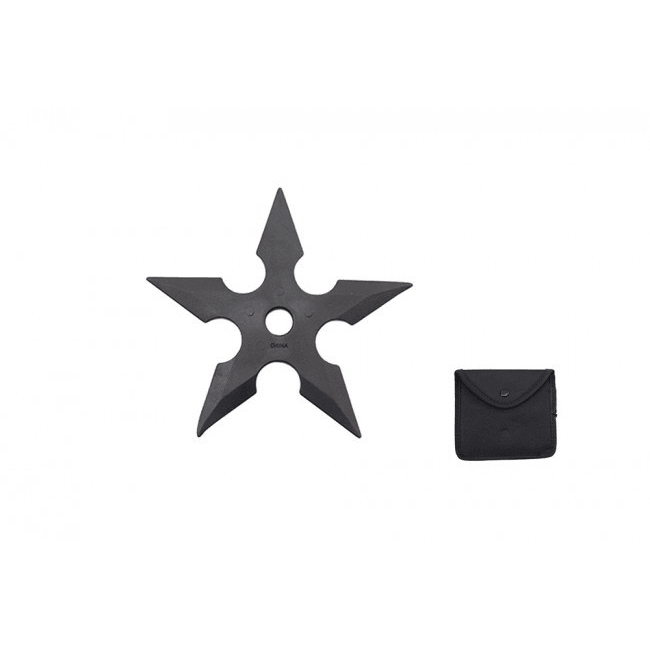 Black Rubber 5 Point Training Throwing Star