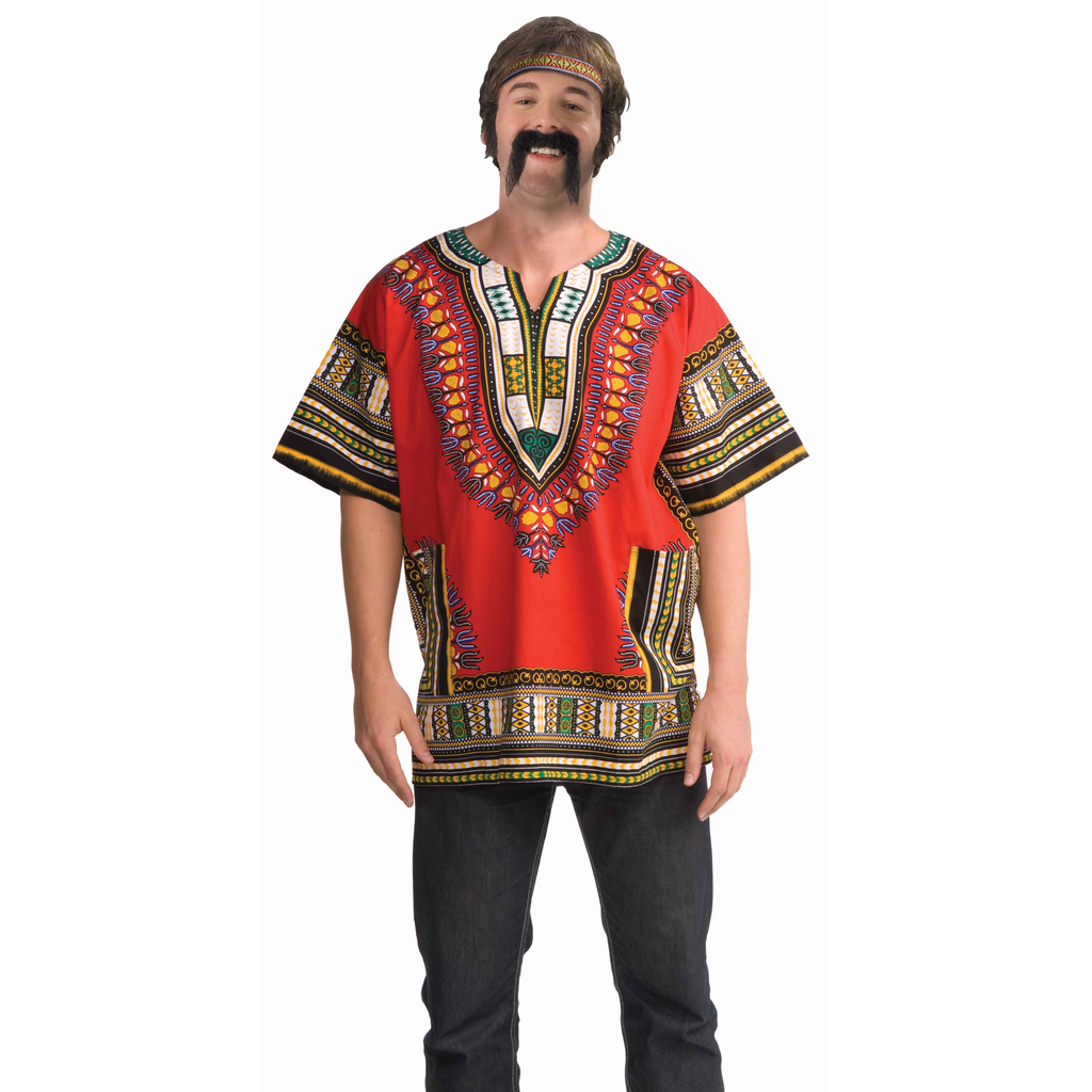 Red Dashiki Shirt