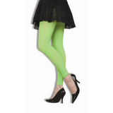 Green Footless Neon Tights