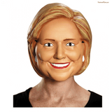 Hillary Clinton Vacuform 1/2 Mask