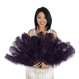 Plum Ostrich Floss Fan ^
