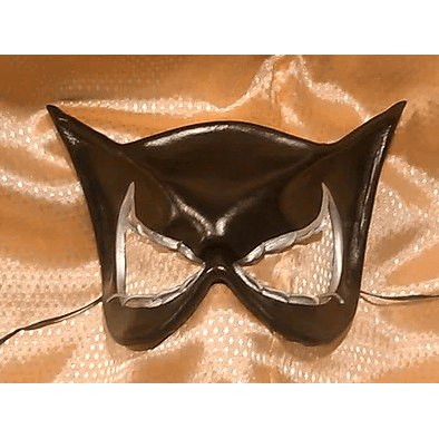 Black She-Cat Leather Mask