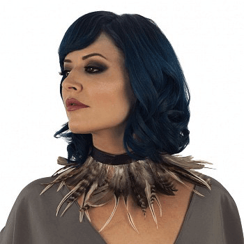 Hackle Natural Feather Choker