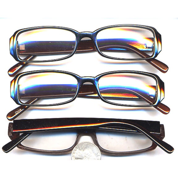 Clear Lens with Dark Brown Frames Glasses
