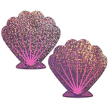 Lilac and Pink Glitter Seashell Pasties
