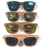 BLUE BROTHERS WOOD GRAIN LOOKING FRAMES WITH REVO LENSES
