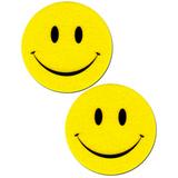 Bright Yellow Smiley Face Pasties