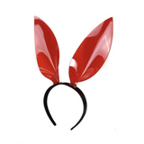 Red Vinyl Bunny Ear Headband