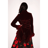 Burgundy Velvet Gloria Jacket