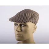 Tan Houndstooth 20s Hat