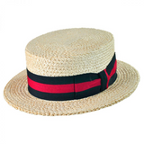 Natural Italian Straw Skimmer Hat