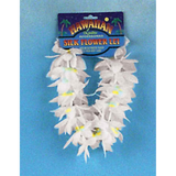 Yellow and White  Lei Headpiece
