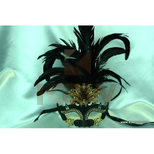 Assorted Venetian Mask with Feathers