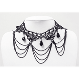 Lace Chandelier Choker-Black