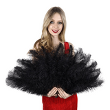 Black Ostrich Floss fan