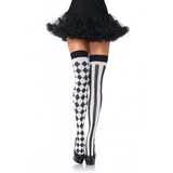 Black & White Harlequin Thigh Highs