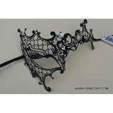 Laser Cut Venetian Mask with Stick