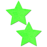 Neon Green Glow in the Dark Star Pasties