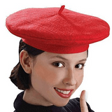 French Red Beret Hat