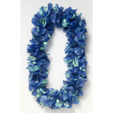 Blue Pearlized Flower Leis^