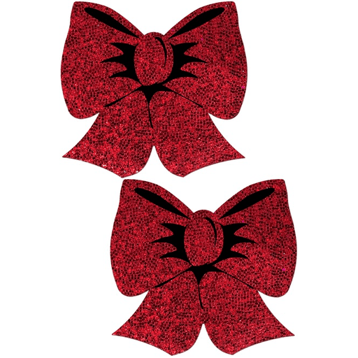 Red Glitter Bow Pasties