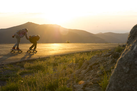 Longboarders at Sunrise