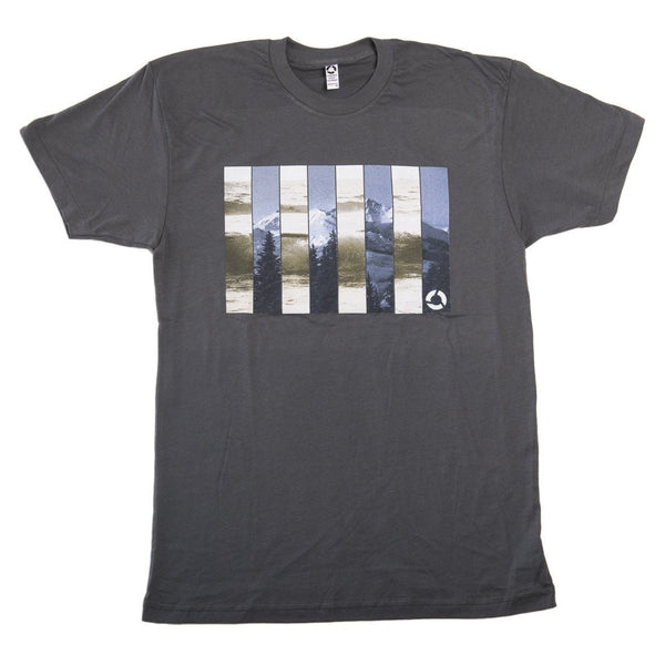 Mountain Wave Tee - Dark Gray
