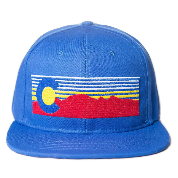 Mt. Evans Colorado Hat - Blue