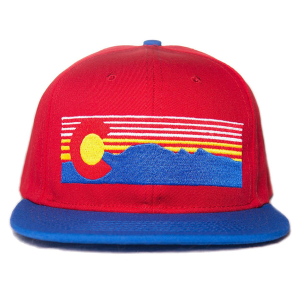 Mt. Evans Colorado Hat - Red