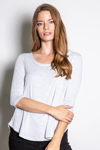 Amal - 3/4 Sleeve Knit Top