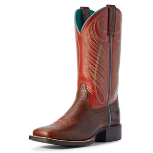 Ariat Ladies 10031601 Round up Square Brown