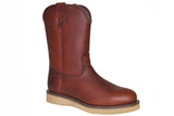 "Work Zone S997 STEEL Toe 10"" Tumbled Leather Wellington"