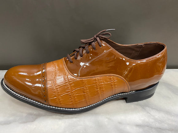 Stacy Baldwin 143237 Patent Cap Toe Brown