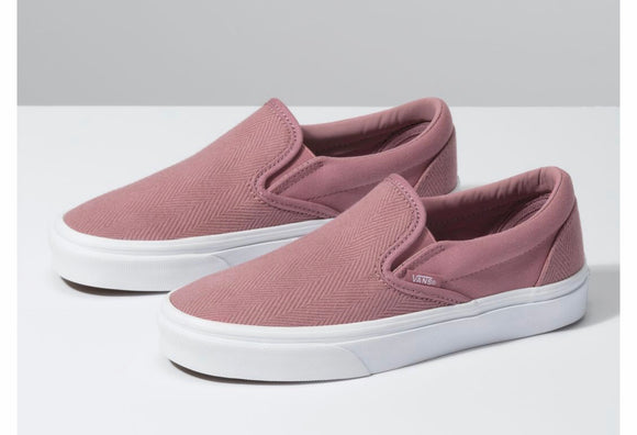 Vans Classic Slip On Herringbone Pink