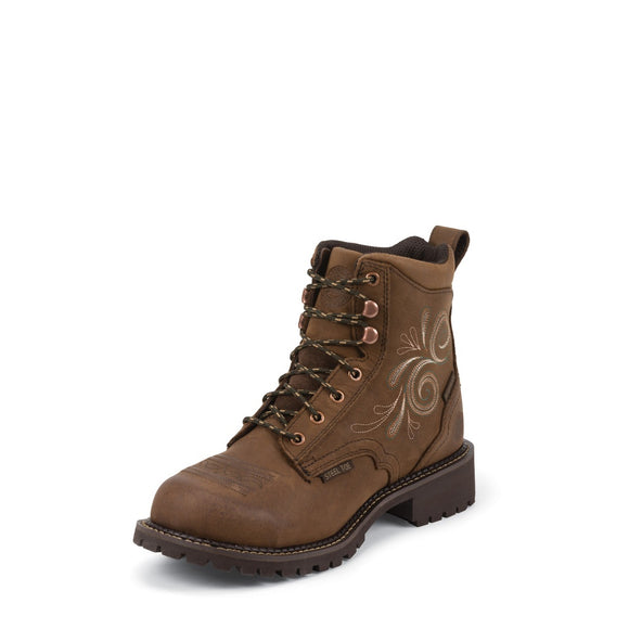 Justin Women's WKL985 Steel Toe Brown
