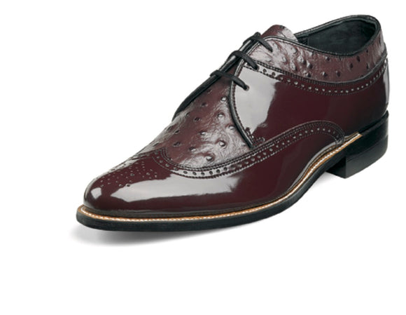 Stacy Adams 00375 Ostrich Print Wing tip