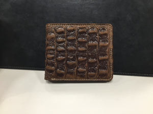 Genuine Leather Alligator Design Collection Men's Wallet Brown