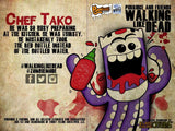 Handmade Walking Like Dead Chef Tako (Limited Edition) - Purridge & Friends - Furry Feline Creatives