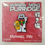 Maneki Neko Purridge Enamel Pin - Purridge & Friends - Furry Feline Creatives
