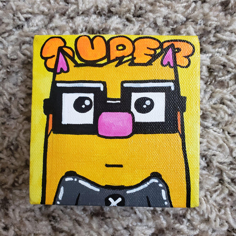 Original Ringo Gaming 4x4 Art Canvas - Purridge & Friends - Furry Feline Creatives