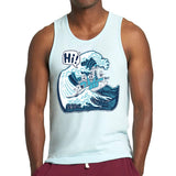 HI Wave Unisex Tank - Purridge & Friends - Furry Feline Creatives