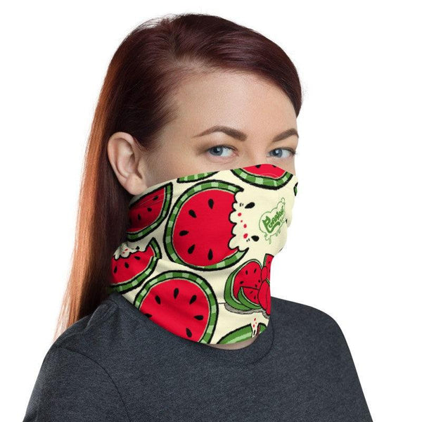 Watermelon Ringo Face Mask / Neck Gaiter - Purridge & Friends - Furry Feline Creatives