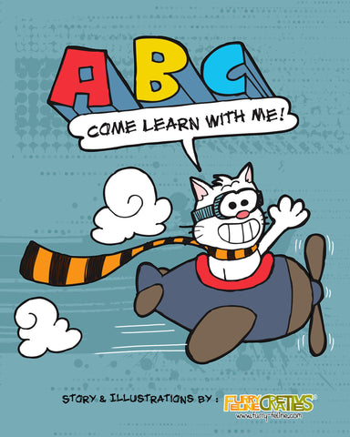 ABC Come Learn With Me Book - Purridge & Friends - Furry Feline Creatives