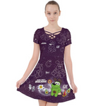 Avocadog Crisscross Dress - Purridge & Friends - Furry Feline Creatives