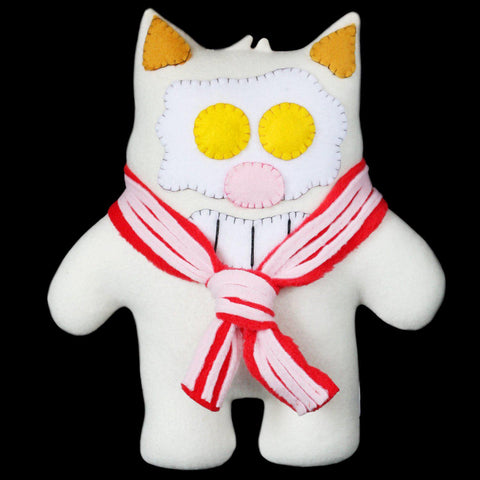 "Handmade Purridge 12"" Bacon & Eggs Plush (Limited Edition) - Purridge & Friends - Furry Feline Creatives"