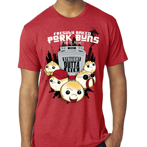 Freshly Baked Pork Buns Men's Tee - Furry Feline Creatives - Furry Feline Creatives