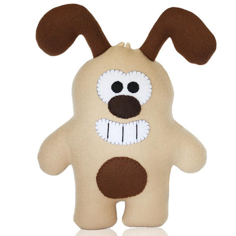 "Handmade Bogie The Dog Plush 15"" Classic - Purridge & Friends - Furry Feline Creatives"