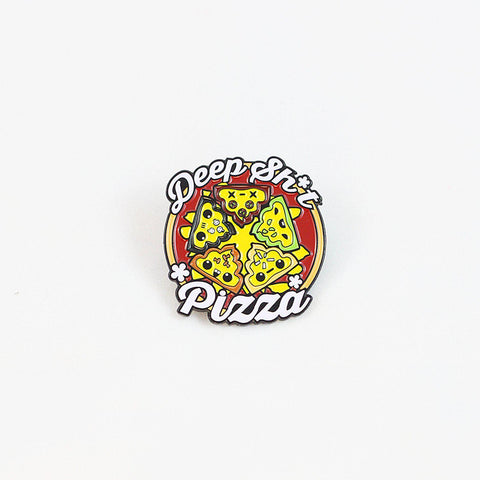 "1.5"" Deep Sh*t Pizza Enamel Pin - Furry Feline Creatives  - Furry Feline Creatives"