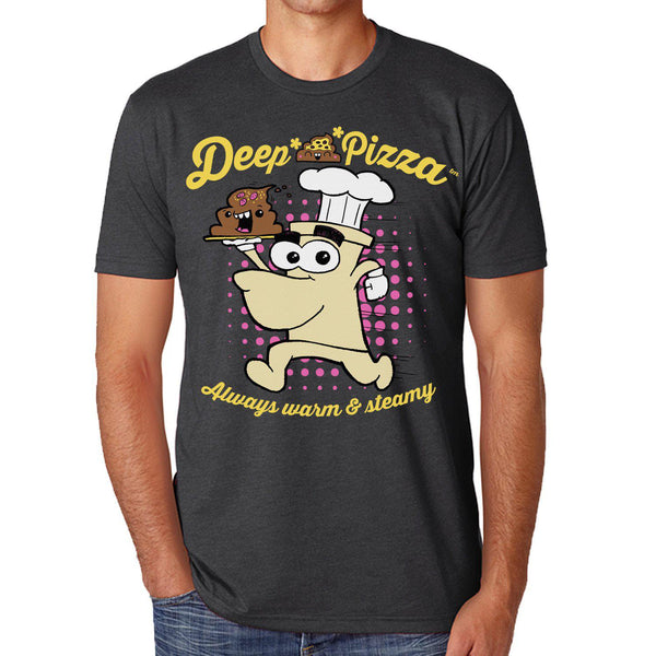 Deep Sh*t Pizza Men's Tee - I Heart Poop Culture - Furry Feline Creatives