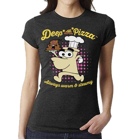 Deep Sh*t Pizza Women's Tee - Furry Feline Creatives - Furry Feline Creatives